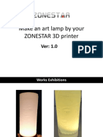 How to Make an Art Lamp by Using ZONESTAR 3D Printer