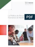 La Politica de Recursos Humanos en Nestle (1)