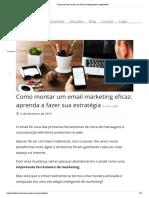 5 Dicas de Como Montar Um Email Marketing Eficaz Rapidamente