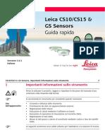 Leica Geosystem User manual 793256_Leica_CS10_CS15_GSSensors_QG_v3.0.1_it