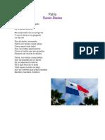 canciones a la patria Panamá