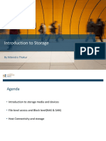 Introduction to Storage - Session A