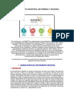 Procedimiento Registral Pimera y Segunda Instancia