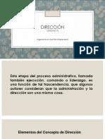 UNIDAD 5 Direccion