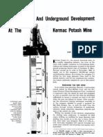 Shaft Sinking and Underground Development at The
