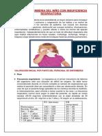 Guia de Enfermeria Del Niño Con Dificultad Respiratoria
