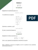 Sistema de ecuaciones  9° - 10°- 11°