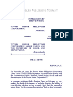 Toyota Motor Philippines Corporation vs. Toyota Motor Philippines Corporation Labor Union, G. R. No. 121084, February 19, 1997, 268 SCRA 573