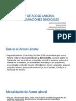 Ley de Acoso Laboral-sindicatos
