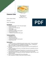 Casava Cake