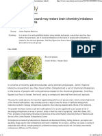Broccoli Sprout Compound May Restore Brain Chemistry Imbalance Linked to Schizophrenia -- ScienceDaily