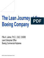 The Lean Journey at the Boeing Co