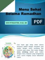 Ppt Menu Sehat Selama Ramadhan-2018