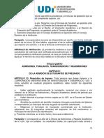 Reglamento Estudiantil UDI 2010 - Admisiones de Los Estudiantes