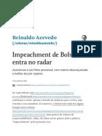 Impeachment de Bolsonaro Entra No Radar - Reinaldo Azevedo