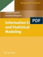 [Springer Series in Statistics] Sadanori Konishi, Genshiro Kitagawa - Information Criteria and Statistical Modeling (2008, Springer).pdf