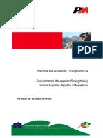 EIA Guidelines for Slaughterhouses