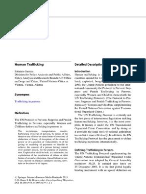 Encyclopedia Of Migration Pdf Human Trafficking Sexual