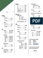 Price List Updated 100116