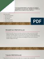 Preformulasi Dan Masterformulasi Sediaan Tablet Dengan Granulasi Kering[1]