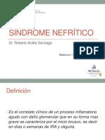Semana 11 Sesión 1 - SÍN. NEFRÍTICO - Dr. Avilés