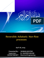 Reversible Adiabatic Non-flow PROCESSES