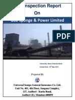 Risk Inspection Report on Goa Sponge & Power Limited