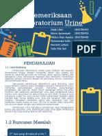 PPT Pemeriksaan Laboratorium Urine