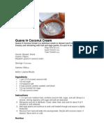 Guava in Coconut Cream