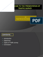 Welcome to the Presentation of Traffic Survey