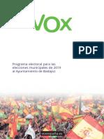 Programa Vox Badajoz