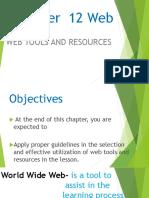 Chapter 12 Web Edtech Report