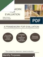 A Framework for Evaluation Ppt