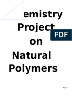 Class 12 Chemistry Project on Natural Polymers