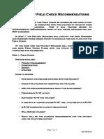 Field Verfication Plan
