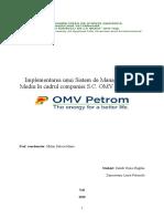 Implementarea Unui Sistem de Management de Mediu În Cadrul Companiei SC Petrom Omv SA