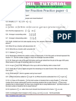 Class 07 Chapter Fraction Practice Paper -1