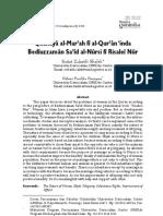 problematika perempuan dalam al-qur'an menurut Bediuzzaman Said Nursi