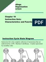 10_Instruction Sets Characteristics