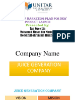 YOUR LIFE JUICE Marketing Assignment
