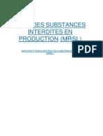 Liste Des Substances Interdites en Production