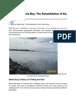 Rehabilitation of Manila Bay