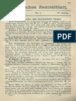 Chemisches Zentralblatt 1926