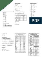 Midterm Formulas Physics11