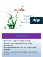 Chapter 1 Java Csc60a