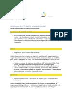 Programa Electoral CC.2019 SB