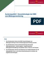 Systemqualität I Gesamtstrategie Der KMK (1)