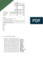 Elementos Comunicação Cruzadinha+caça palavras gêneros textuais