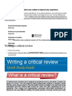 Writing a Critical Review - Research & Learning Online