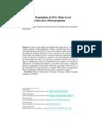 AutomaticTranslationofOCLMeta-Level ConstraintsintoJavaMeta-programs